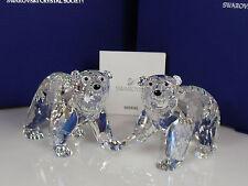 SWAROVSKI SCS ragazzo orsi polari 2011 Polar Bear Cubs Crystal Moonlight 1079156 NUOVO