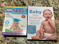 """Your Baby Can Read"" Vol 1 & Baby Sign Language DVD Sets - New & Sealed!"