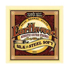 Ernie Ball 2045 Earthwood Silk & Steel Soft Acoustic Guitar Strings Free US Ship