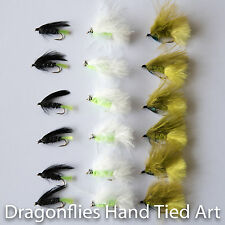 18 Cats Whisker, Viva, Dawsons Olive Trout Fly Fishing Flies Dragonflies