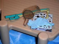 Fisher Price Loving Family Dollhouse Cloth Blue Fish Fishing Pole Insect Net Lot