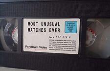 WWF Most unusual Matches Ever 1994 ORIG VHS WWE Wrestling deutsch Tape + Hülle