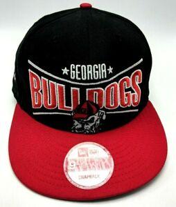 UNIVERSITY OF GEORGIA BULLDOGS / UGA black hat adjustable snapback cap 9Fifty