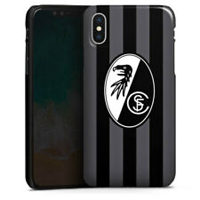 Apple iPhone X Premium Case Cover - SC Freiburg - Grau Gestreift