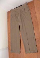 NEW Perry Ellis America Mens Dress Pants Sz W 36 X 32 L Brown Slacks Pleated NWT