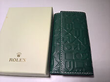ULTRA RARE ROLEX GREEN LEATHER KEY HOLDER JUBILEE STYLE