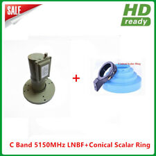 High Gain PLL C band Single LNBF+Conical scalar ring with LNB holder