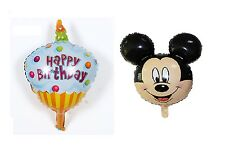 Birthday Blue Cake Disney Mickey Mouse Foil Balloons Birthday Party Decoration