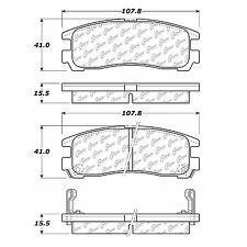 105.03830 - Centric Posi-Quiet Ceramic Disc Brake Pads With Hardware