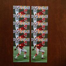 Emmitt Thomas Kansas City Chiefs Lot of 10 unsigned Goal Line Art Cards NRMT/MT