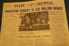 Vintage Newspaper : JAN 15, 1964 TOPEKA State Journal Complete Newspaper