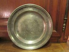 ancien petit plat en etain clair epoque 17 eme 18 eme poinconné MM