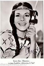 Karin Dorr ++Autogramm++ ++WINNETOU 60er Jahre++