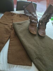Early medieval/Roman historical re-enactment s-trousers, blanket, shoes