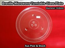 Breville Microwave Oven Spare Part Glass Turntable Plate Platter (W15) Brand New