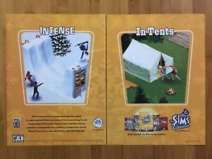 The Sims: Vacation PC 2002 Vintage Video Game Print Ad/Poster Art Official Rare!