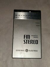 General Electric FM Stereo Headset Radio model #7-1250A portable vintage
