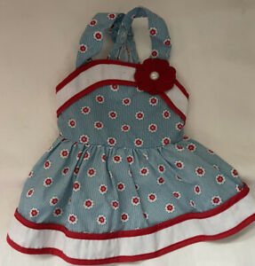 Red White And Blue Dress Martha Stewart Pets Dog Outfit Size Small