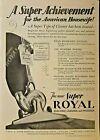 ROYAL ELECTRIC VACUUM, Cleveland, Boston, NY, Chicago, Vintage 1927 Antique Ad photo