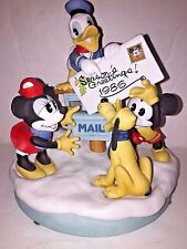 DISNEY PARKS EXCLUSIVE 1986 Christmas Figurine Mickey Minnie Donald LE 2000
