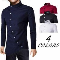 Mens Casual Long Sleeve Luxury Shirts Slim Fit Stylish Dress Shirt Top Fashion