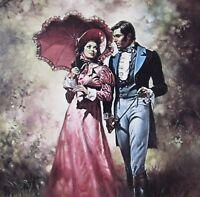 TOAST OF THE TOWN Boris Vallejo Vintage Art 1976 Victorian Romance Gentleman