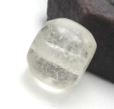 RARE MAGNIFICENT ANCIENT CLEAR CRYSTAL ROCK QUARTZ MALI BEAD 11mm x 13mm