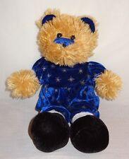 Teddy Bear Stars Plush Stuffed Blue Velvet Outfit Night Time K & K Games