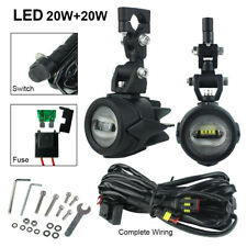 40w Motocycle Fog Lights LED Auxiliary Driving Lamp For BMW R1200GS/ADV F800GS