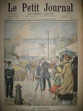 BREST VAISSEAU-ECOLE LE BORDA EMBARQUEMENT DES FISTOTS LE PETIT JOURNAL 1902