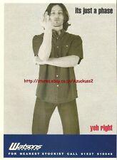 Watsons Heavies Clothing 1998 Magazine Advert #3627