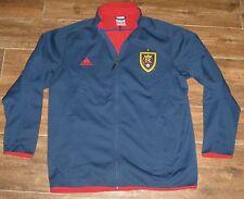 Adidas RSL Real Salt Lake FULL ZIP JACKET TOP M MD BLUE RED COAT WINDBREAKER NEW