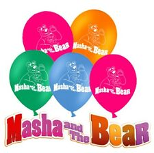 Masha And The Bear 12'' Latex Party Balloons 6pcs -24pcs Party Flag Table cover