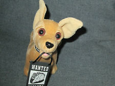 "Plush Taco Bell Chihuahua Dog 6"" Talking Drop The Chalupa Advertising 3+ sound"