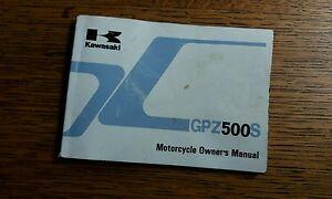 KAWASAKI GPZ 500 S D3 E3 D4 E4 OWNERS MANUAL/ HANDBOOK / BOOKLET