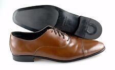 R - Men's SALVATORE FERRAGAMO 'Remigio' Brown Leather Oxfords Size US 12 - D