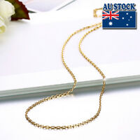 18K Yellow Gold Filled 1.5mm Link Necklace Anchor Chain