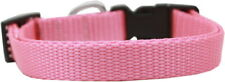 Mirage Pet 0.75 Pink Nylon Dog Collar with Classic Buckle Medium