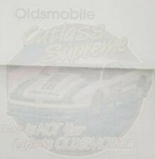 Cutlass Supreme 1989 Oldsmobile Drag Racing T-Shirt Iron On Unused Decal