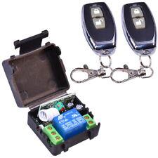 2x Remote Control Switch + Relay 12V (433MHz Transmitter + Receiver) Gate Garage