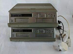 2 x Vintage & Collectable 1980's RadioShack Duofone Answering Machines