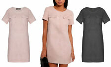 Unbranded Faux Suede Short Sleeve Casual Dresses for Women