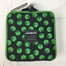 New Minecraft Green Creaper Lunch Bag Box Insulated Child
