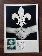 Private maximum card 1962 AUSTRIA Boy Scouts, maxicard, maxi card, MC 13