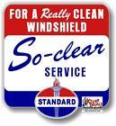 (STAN-9) 9.5X8.75 STANDARD WINSHIELD BOX VINYL DECAL STANDARD AMOCO GASOLINE OIL