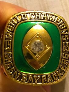 1965 BART STARR COMMEMORATIVE CHAMPIONSHIP RING PACKERS SIZE 11