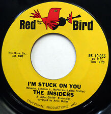 THE INSIDERS 45 I'm Stuck On You / Chapel Bells Are Calling NORTHERN SOUL e7328