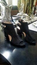 45b216a8bbfe  198 Louise et Cie Olivia Cutout Peep Toe Black Bootie Sandal 5