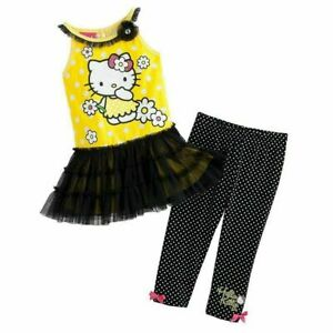 Toddler Girl Hello Kitty Tutu Dress Capri Leggings Set - 2T - FREE SHIPPING