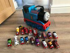 Thomas The Tank Engine Take N Play Bundle 3 D Carry Case 19 Trains CHRISTMAS #8